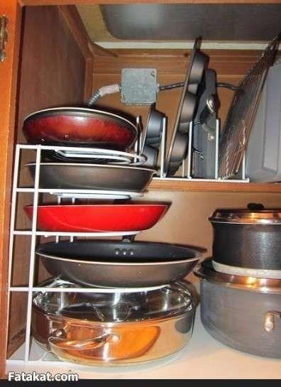 سلسله تنظيم وتنظيف البيت بالصور الحلقه الاولي المطبخ منتدى فتكات Kitchen Saute Pan Home