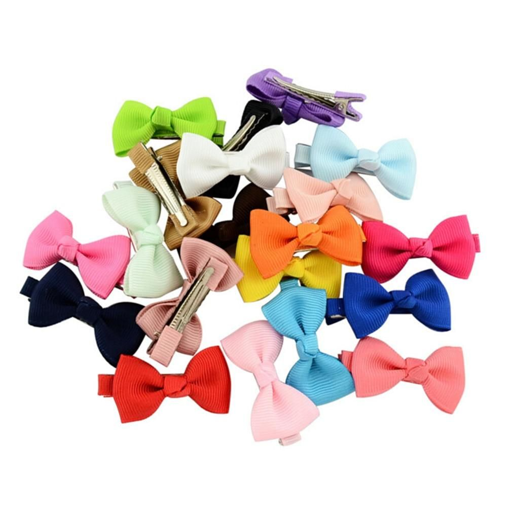 Wholesale 20PC Kid Baby Girls Toddler Cute Flower Hair bows Alligator Clip