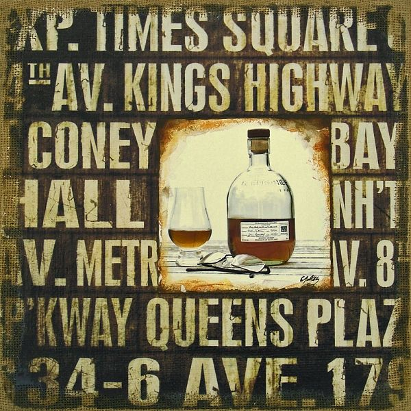 Urban Wall Art Mixed Media Time To Unwind  Whiskey Scotch Subway Signs New  York Bar Decor   Mixed Media, In Mixed Media Collage Paintings