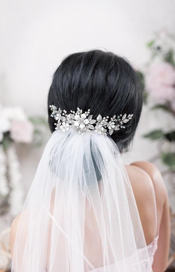 Wedding hair accessories Bridal hair piece Wedding headband Bridal back headpiece Crystal hairpiece Rhinestone headpiece Bridal Hair Jewelry