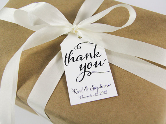Thank You Custom Tags Large Size Wedding Tag Favor