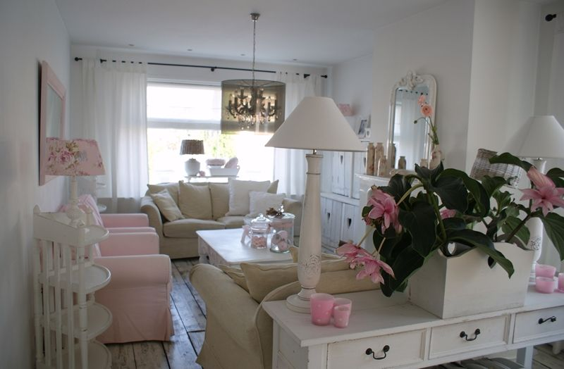 Wonen In Wit : Woonkamer wonen in wit romantic shabby and room