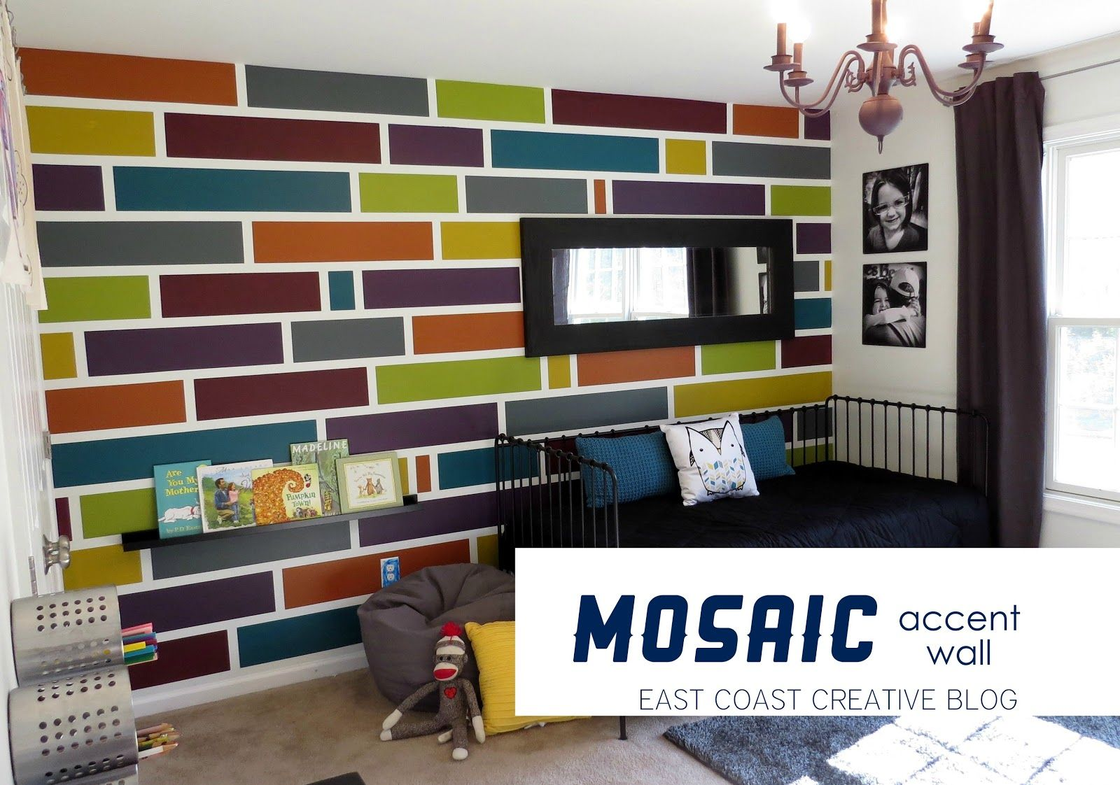 How To Paint A Mosaic Accent Wall East Coast Creative