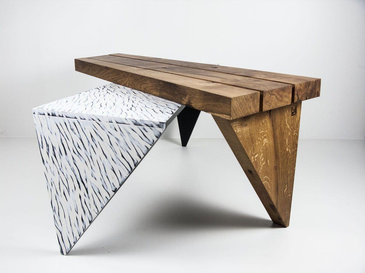 Table Basse Chene Massif Huile Multiplis De Bouleau Peint Et Sculpte Table Basse Table Basse Chene Massif Et Table Basse Chene
