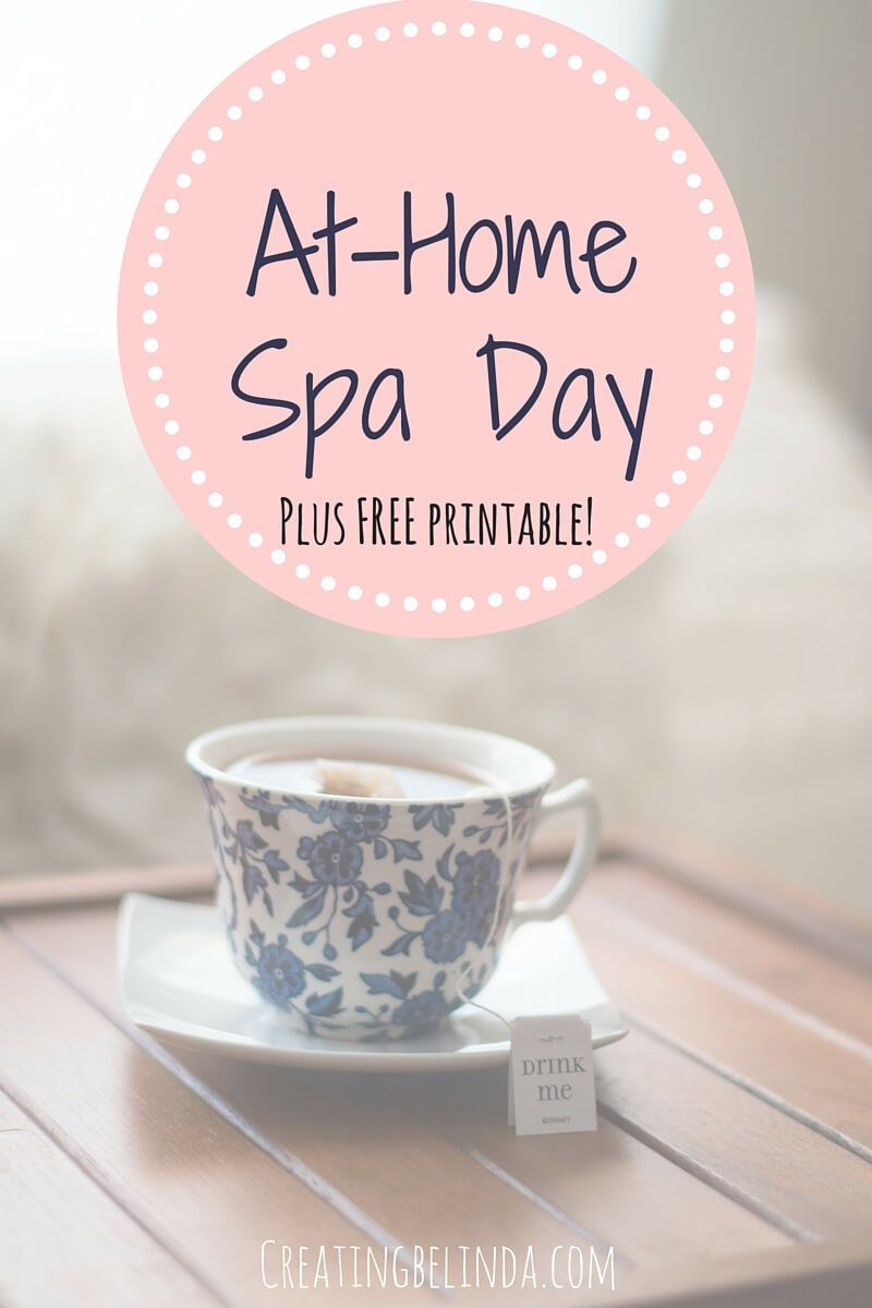 At-Home Spa Day - Sometimes life throws all these things at you and you become so busy and overwhelmed, it is important that in those moments to stop and take care of yourself. In this post, I share some of my favorite things to do when I want to pamper myself and give myself an at-home spa day. Click through for all the details. A FREE guide as well!