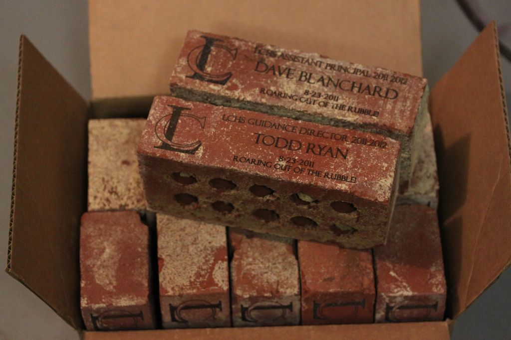 Personalised Laser Engraved Brick with Your Choice of Text and Colour
