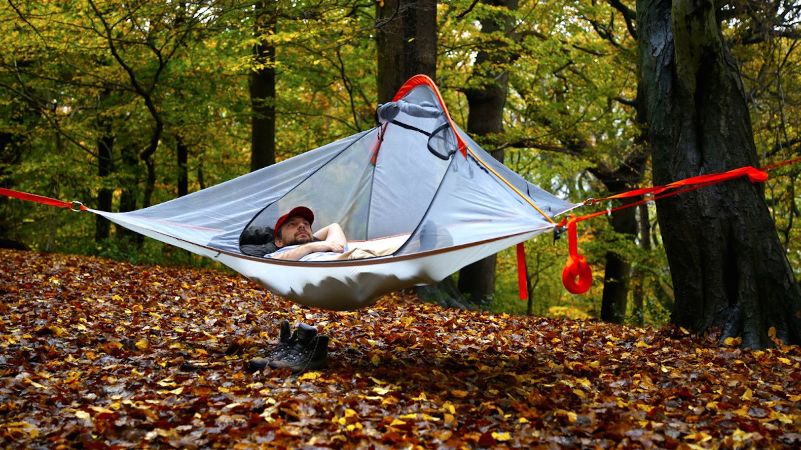 camping ultra light and portable flite tent lets you camp in the trees      rh   pinterest