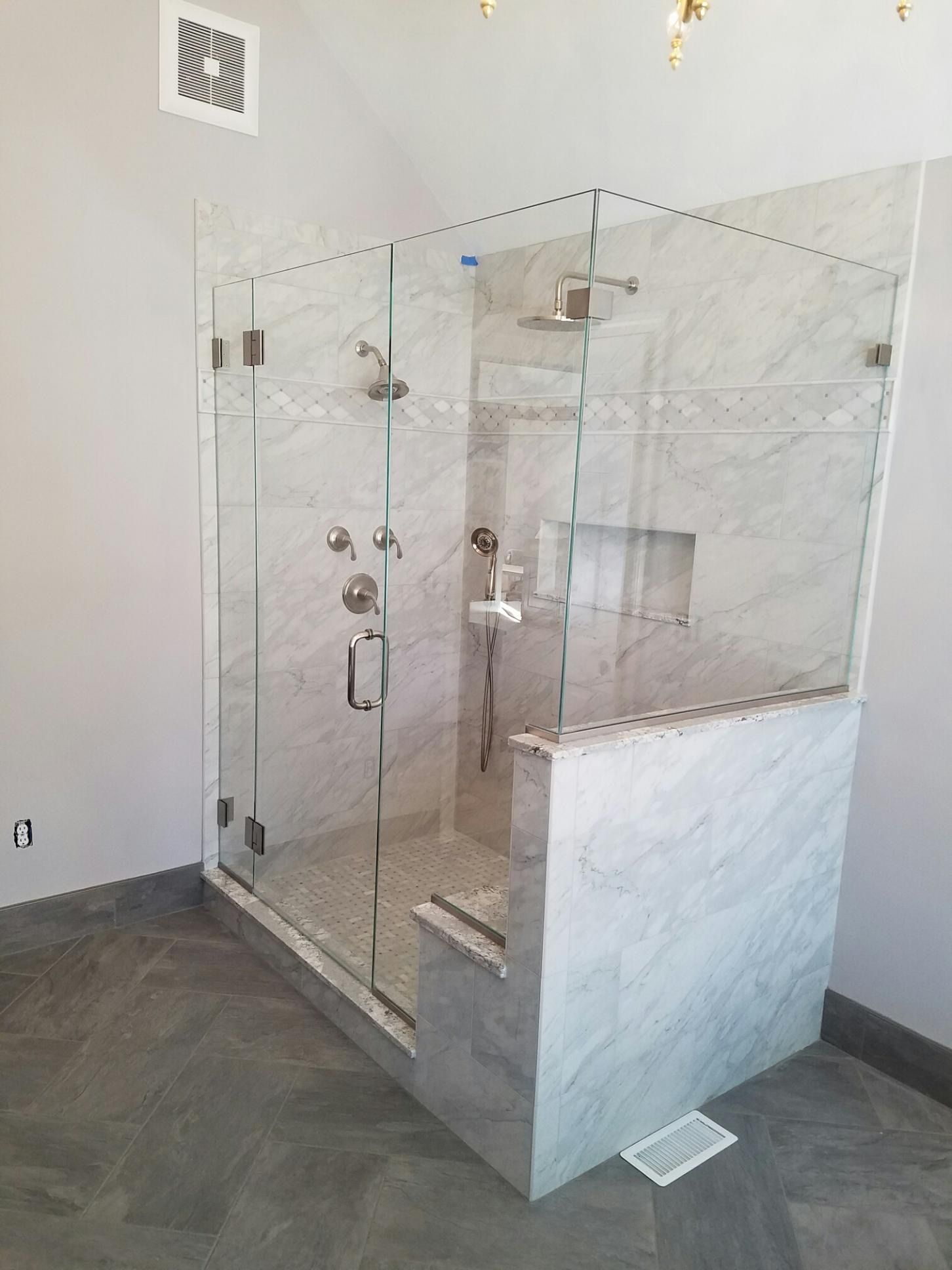 1 2 Starphire Glass Door Hinged Off Sidelite Notched Side Nib Return Panel Glass Door Hinges Luxury Shower Glass Door