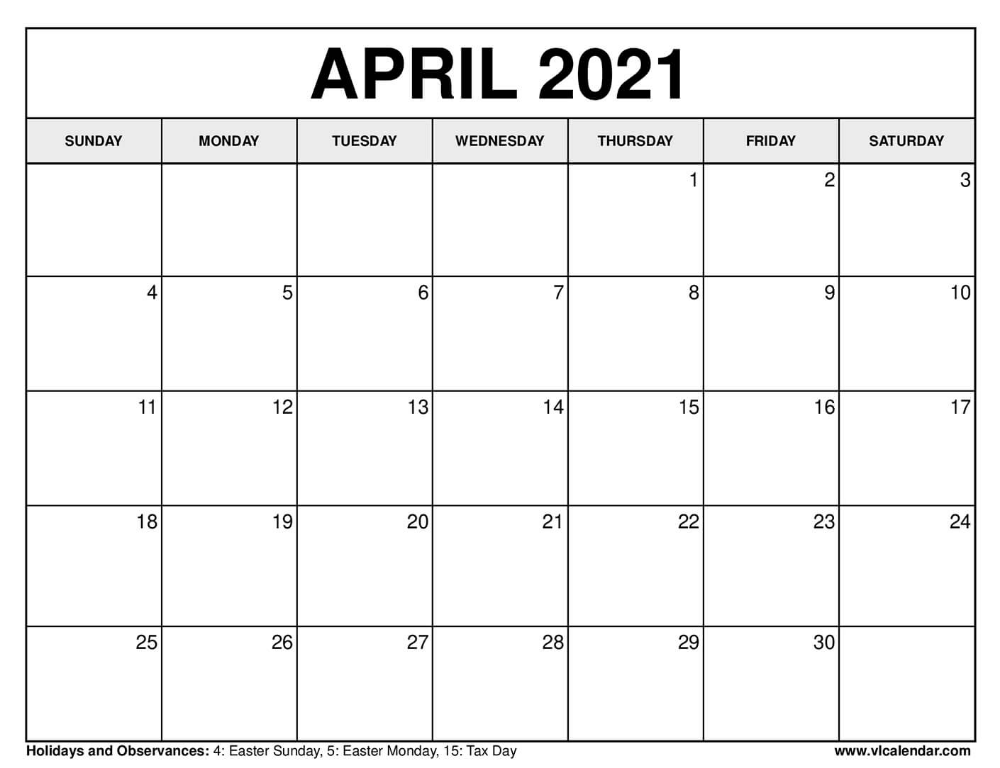 April 2021 Calendar In 2020 Free Printable Calendar Templates Calendar July Calendar