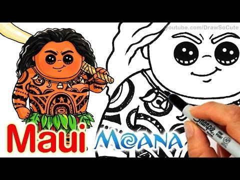 how to draw moana step by step