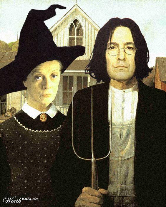 American Gothic Hogwarts Gothic American Gothic Parody American Gothic American Gothic Painting