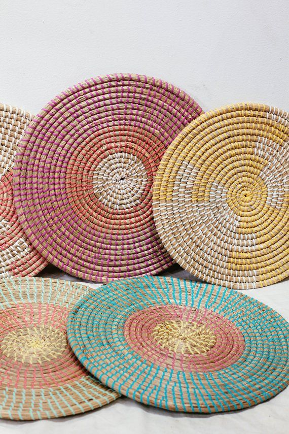 Seagrass Weaving Handmade Placemat Braided Mat Heat Resistant Hot Insulation Vintage Natural Decor Table Top Tablewares Wall Decoration Woven Baskets Storage Placemats Woven Placemats