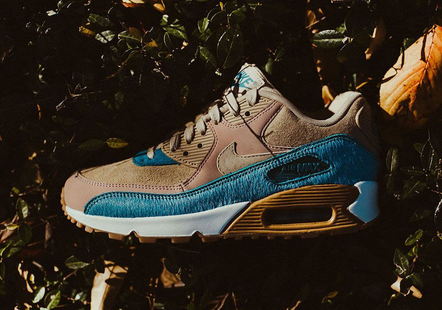 Nike Air Max 90 with Smokey Blue Pony Hair