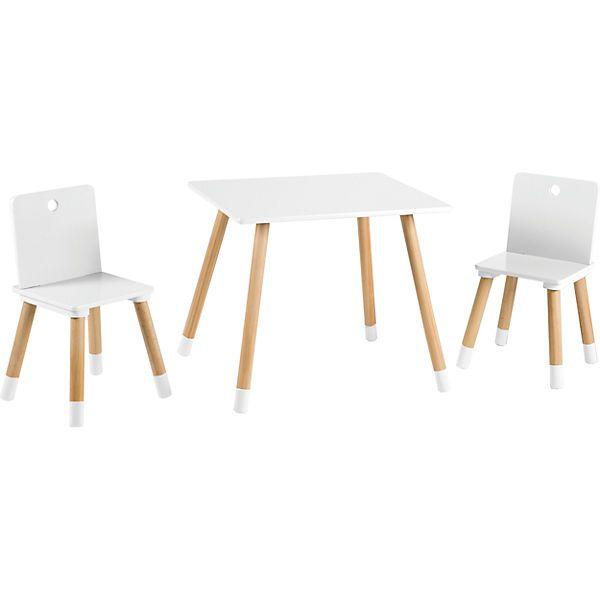 Kindersitzgruppe, weiß/natur, 3tlg (mit Bildern