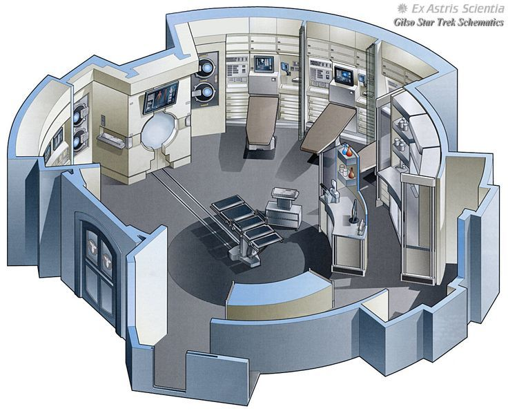star trek Enterprise sickbay blueprint - Google Search sickbay - new blueprint architecture enterprise
