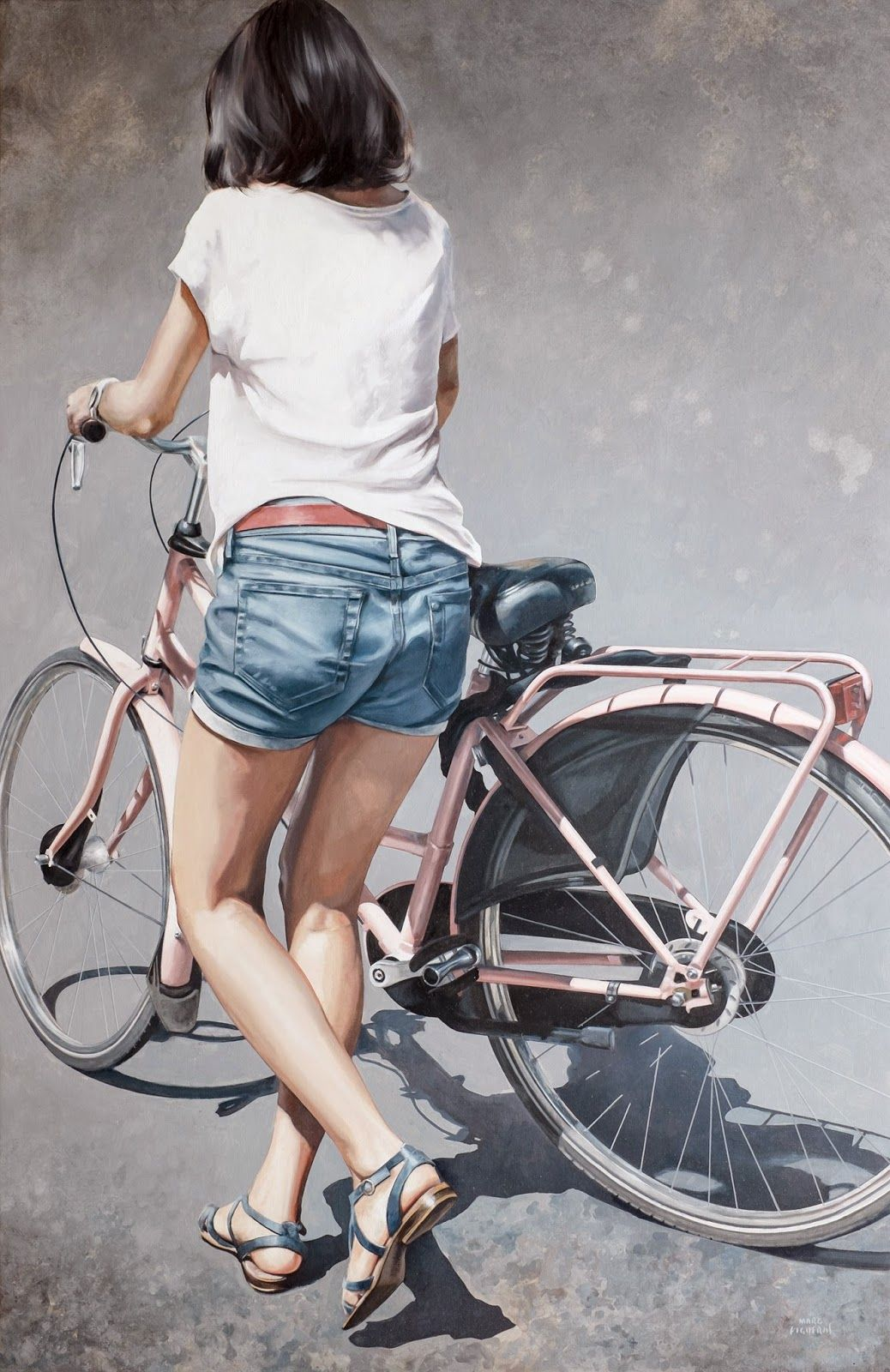 Hyper Realistic Girls Figure Painting By Marc Figueras 8