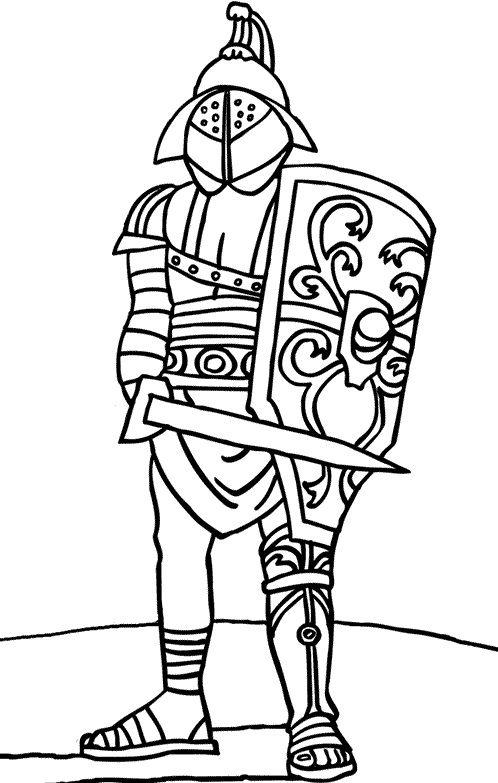 Mirmillon gaulois gladiateur latin pinterest - Coloriage de arme ...
