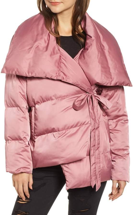 103a5a3db77 AVEC LES FILLES Wrap Puffer Jacket