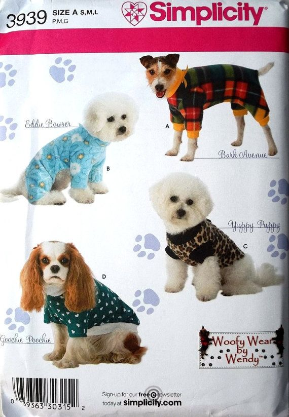 Dog Coats Pattern, High Fashion Dog Coats Pattern, Sz Sm to Lg ...