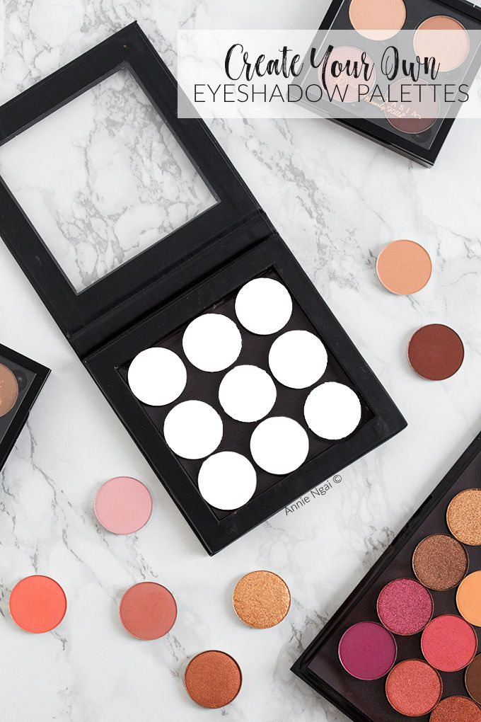 Create your own eyeshadow palettes {with three palette