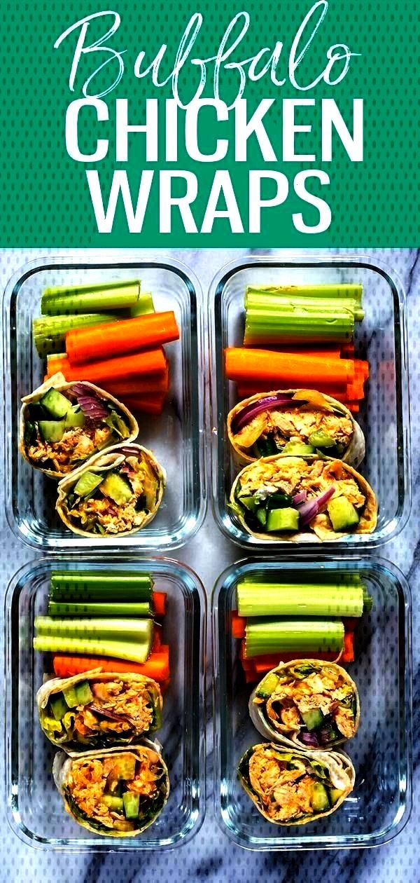 Buffalo Chicken Wrap - The Girl on Bloor This UltimateMeal Prep Buffalo Chicken Wrap is a delicio
