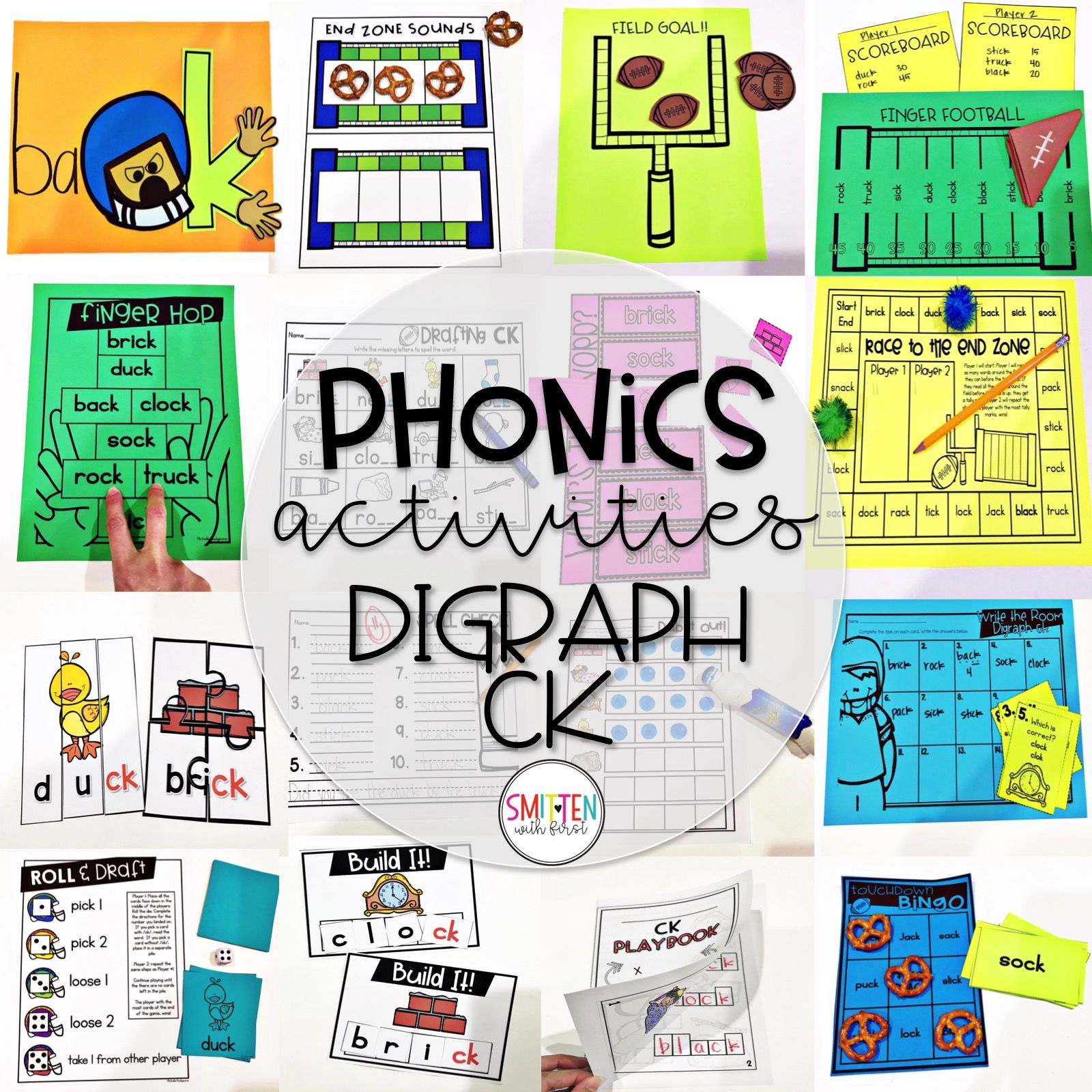 Digraph Ck Phonics Activities And Games With Images