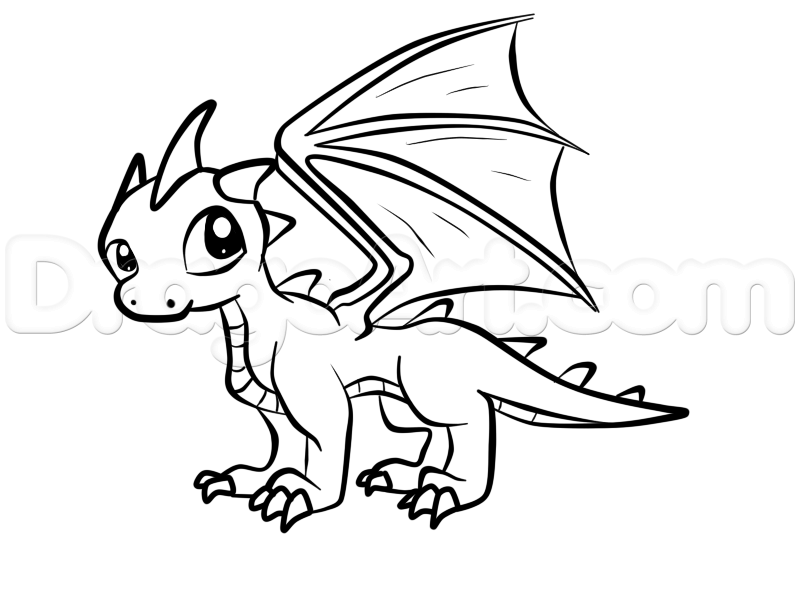 how to draw a baby dragon step 7 | diseños | Pinterest