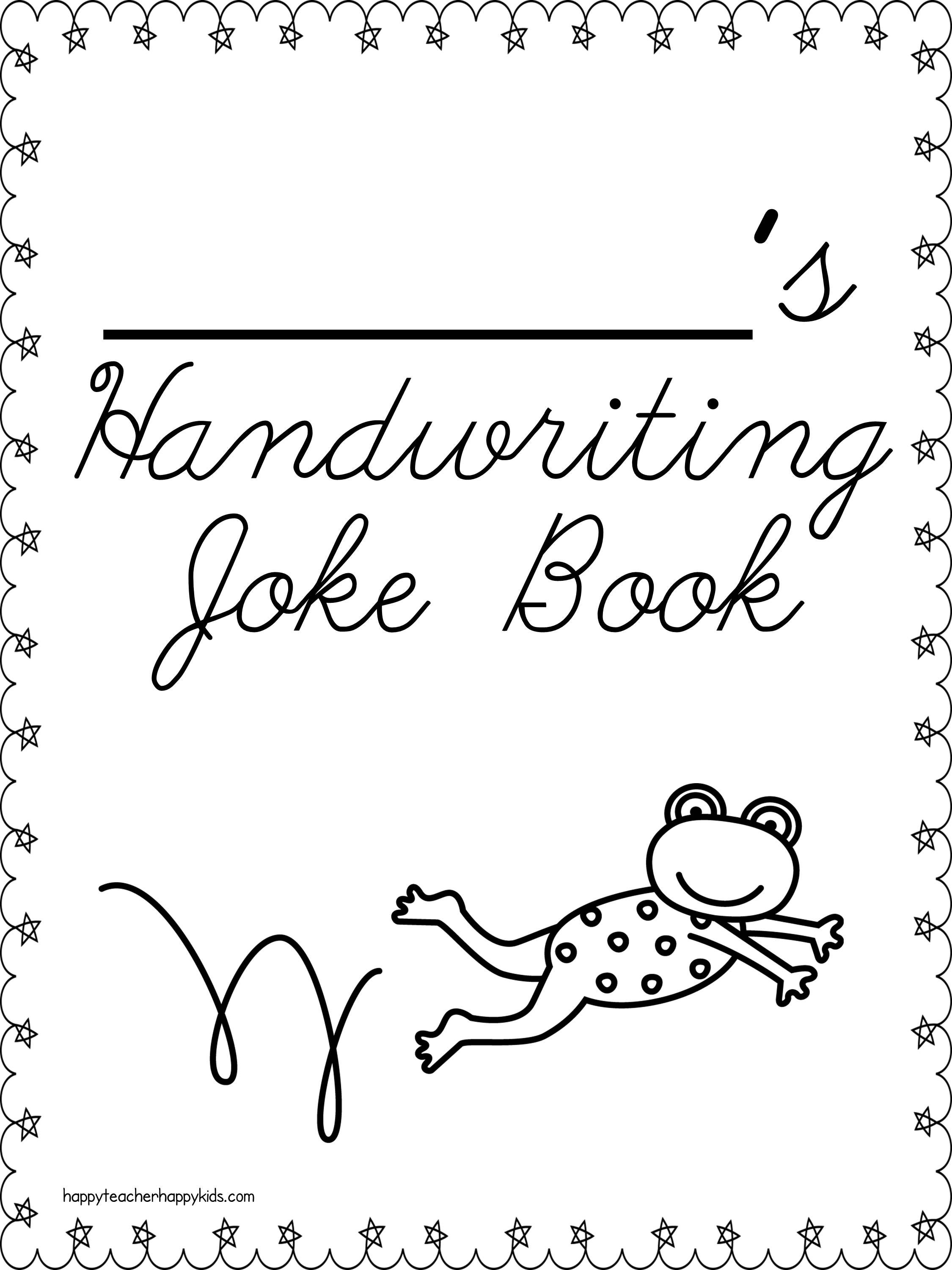 Cursive Handwriting Joke Book- check out the preview for a