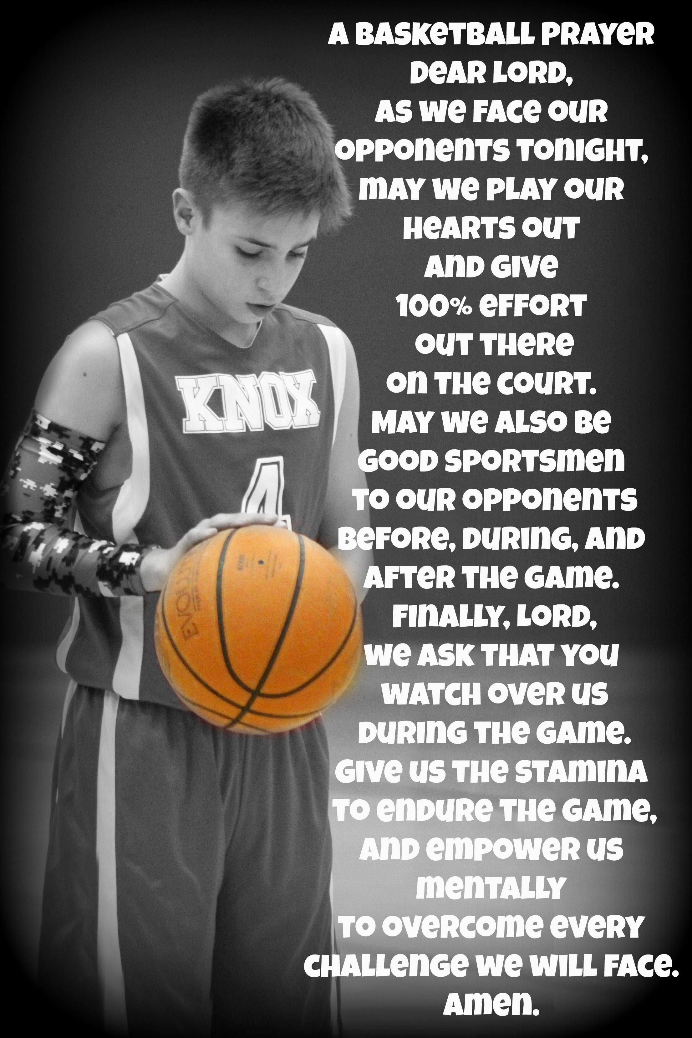 A BASKETBALL PRAYER BASKETBALL QUOTES AND INSPIRATION
