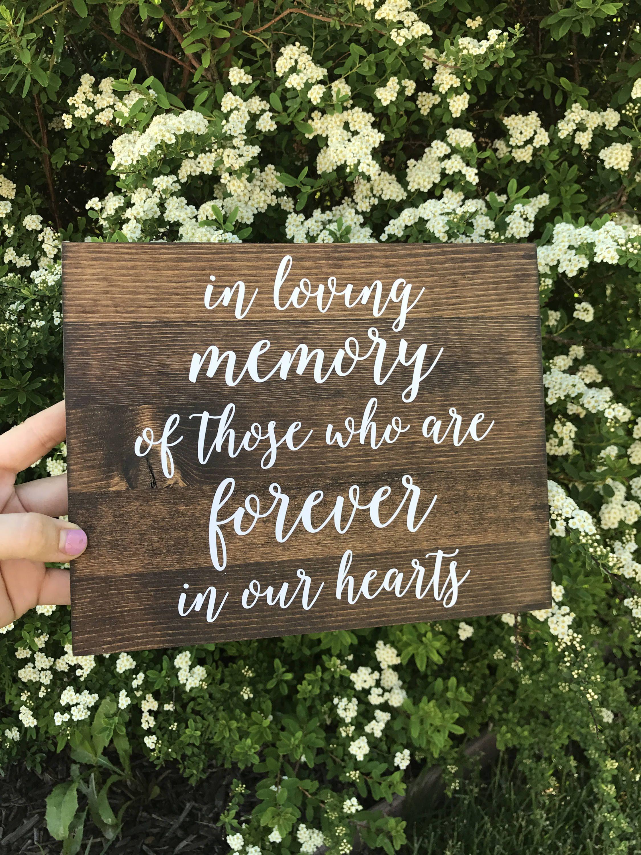 In Loving Memory Sign, In loving memory wedding sign, in