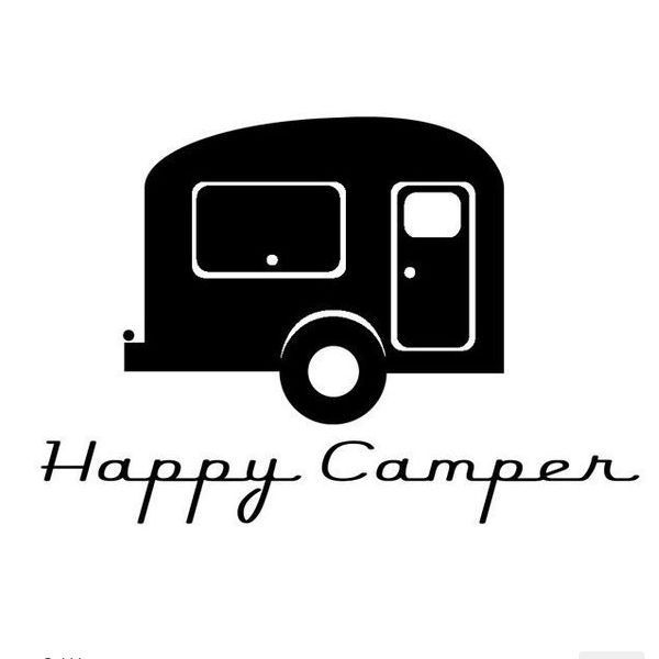 Details About Happy Camper Funny Vinyl Decal Sticker Retro Car Truck Rv Trailer Decal 163 Happy Campers Vinyl Decals Camper
