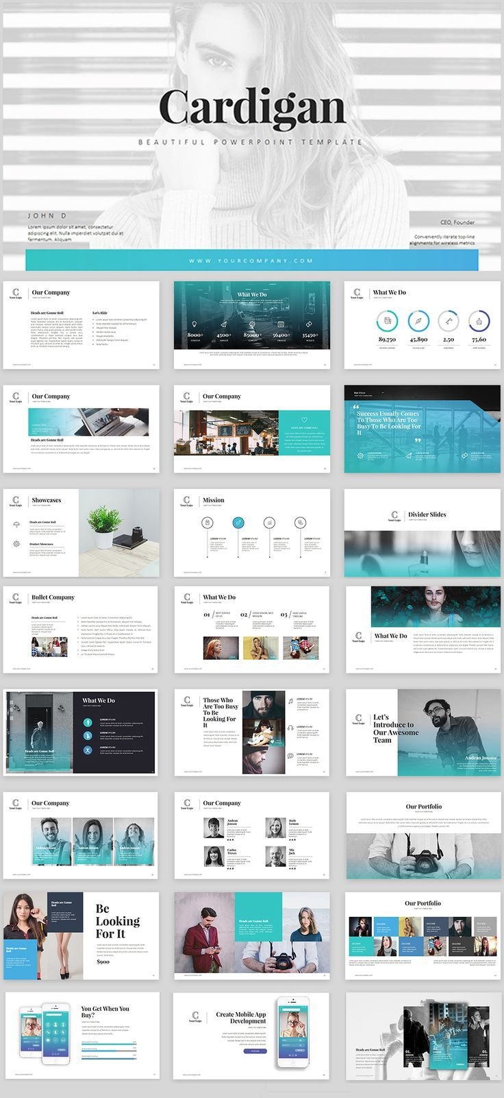 Cardigan Powerpoint Template Powerpoint Template Powerpoint