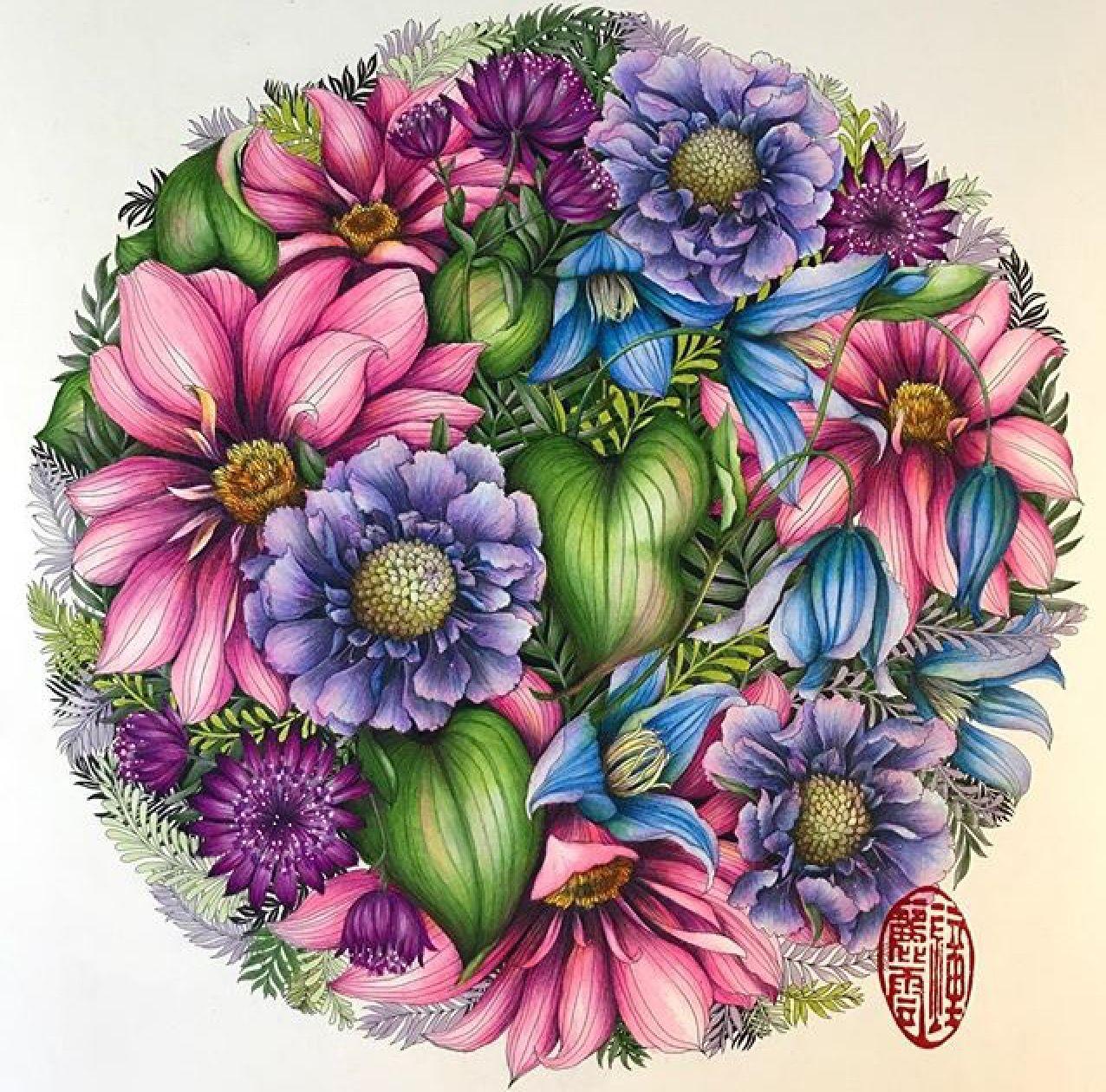 Pin de Ruth O\'Hara en Floribunda   Pinterest   Mandalas y Arte