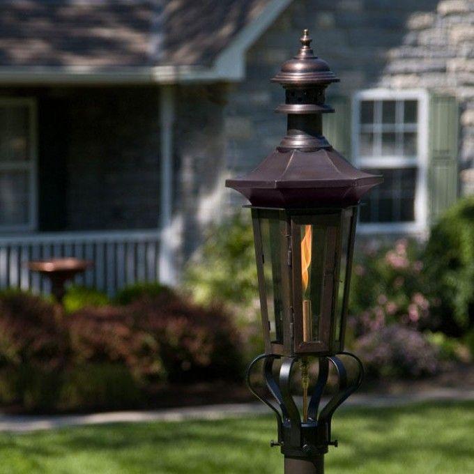 "Adelide Post Mount Gas Lantern - 34"""