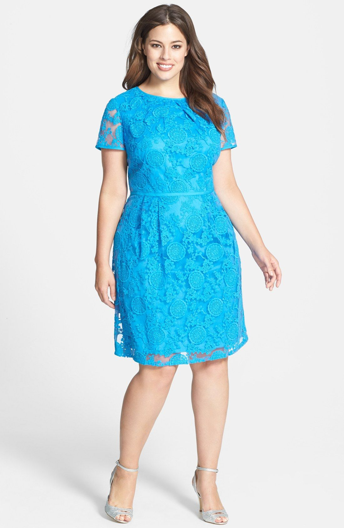 Plus Size Adrianna Papell Lace Dress From Nordstrom - PLUS Model Mag ...