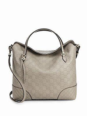 c3eceec831f Gucci Bree Guccissima Leather Top Handle Bag. Mystic white