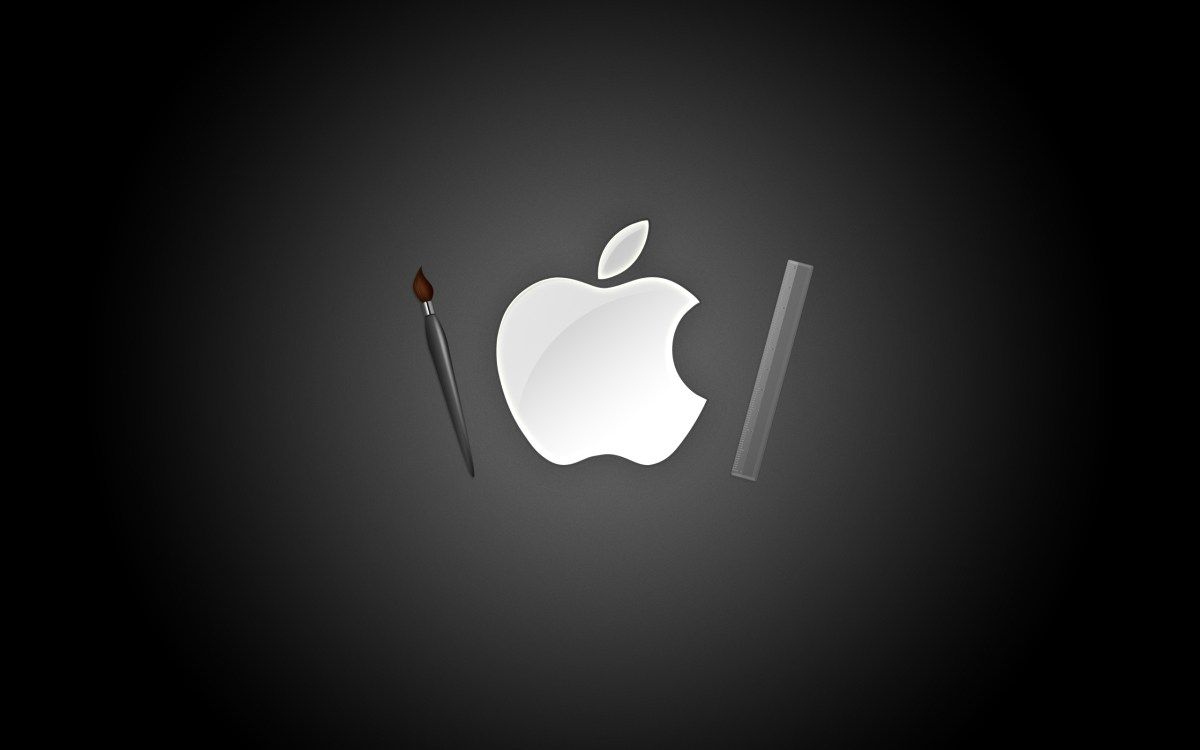 apple bw black background hd | wallpapers | pinterest | black