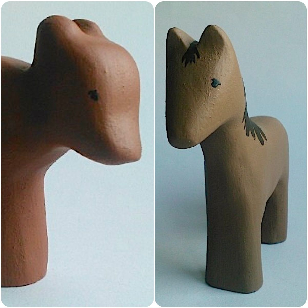 b for Bjørn: A bear and a horse