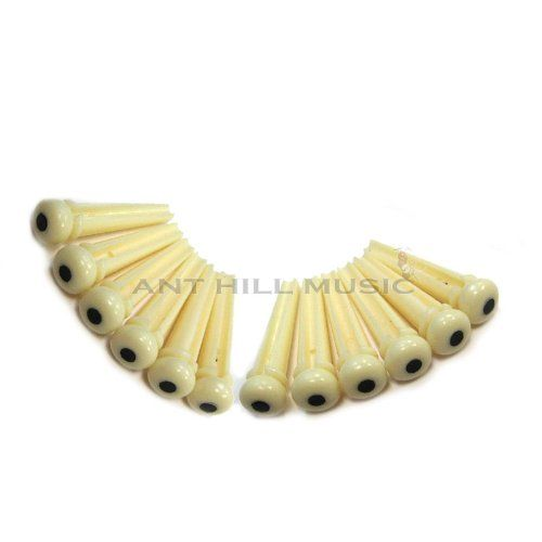 Acoustic Guitar Bridge Pins Ivory Black Dot Set Of 12 More Info Could Be Found At The Image Url It I Acoustic Guitar Acoustic Guitar Parts Guitar Parts