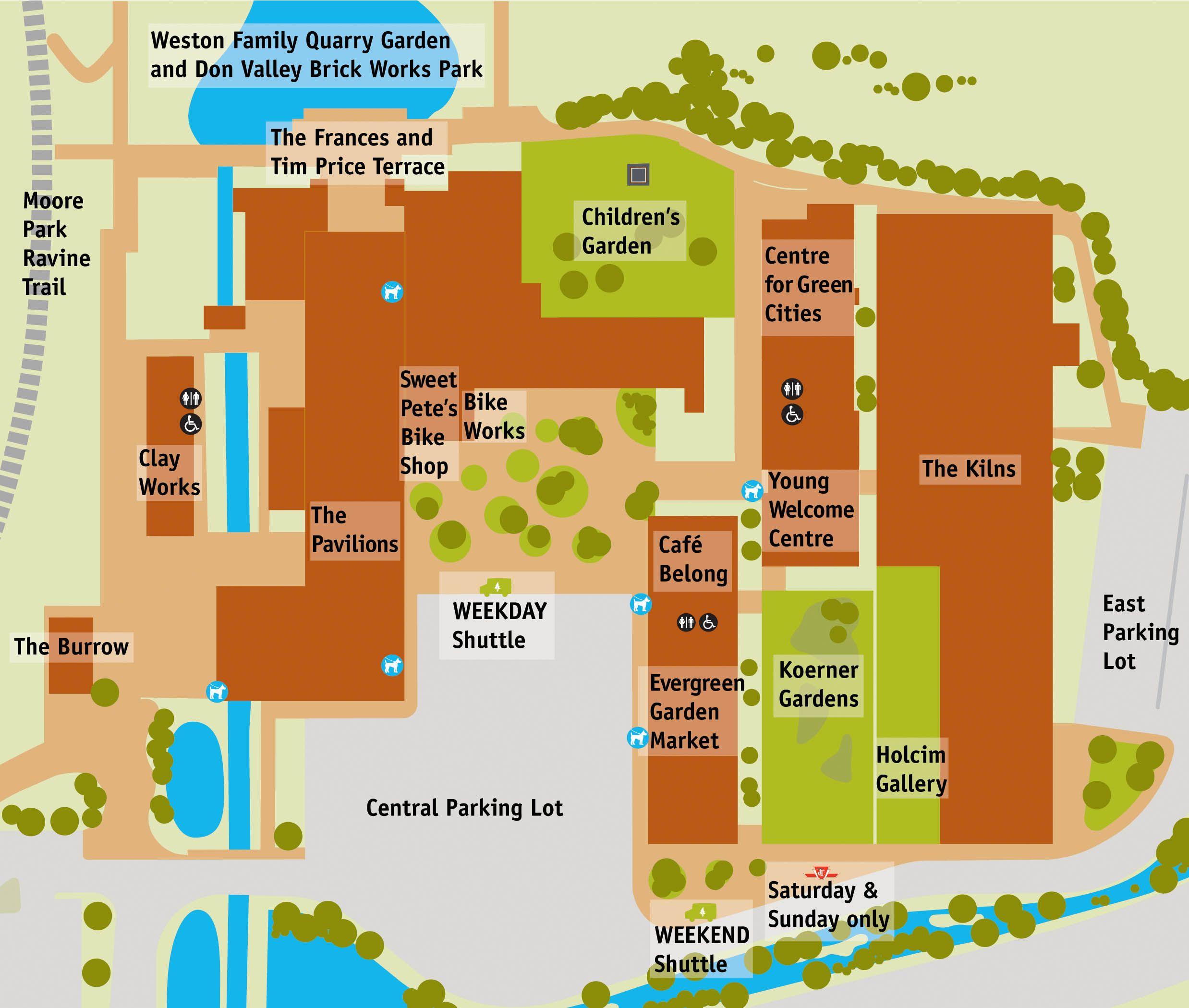 Map of Evergreen Brick Works Evergreen Brick Works Pinterest