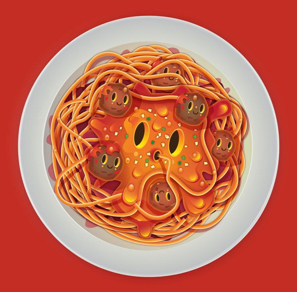 Neat Style For Illustrations I Love Food By Jonathan Ball Pokedstudio Food Illustrations I Love Food Food