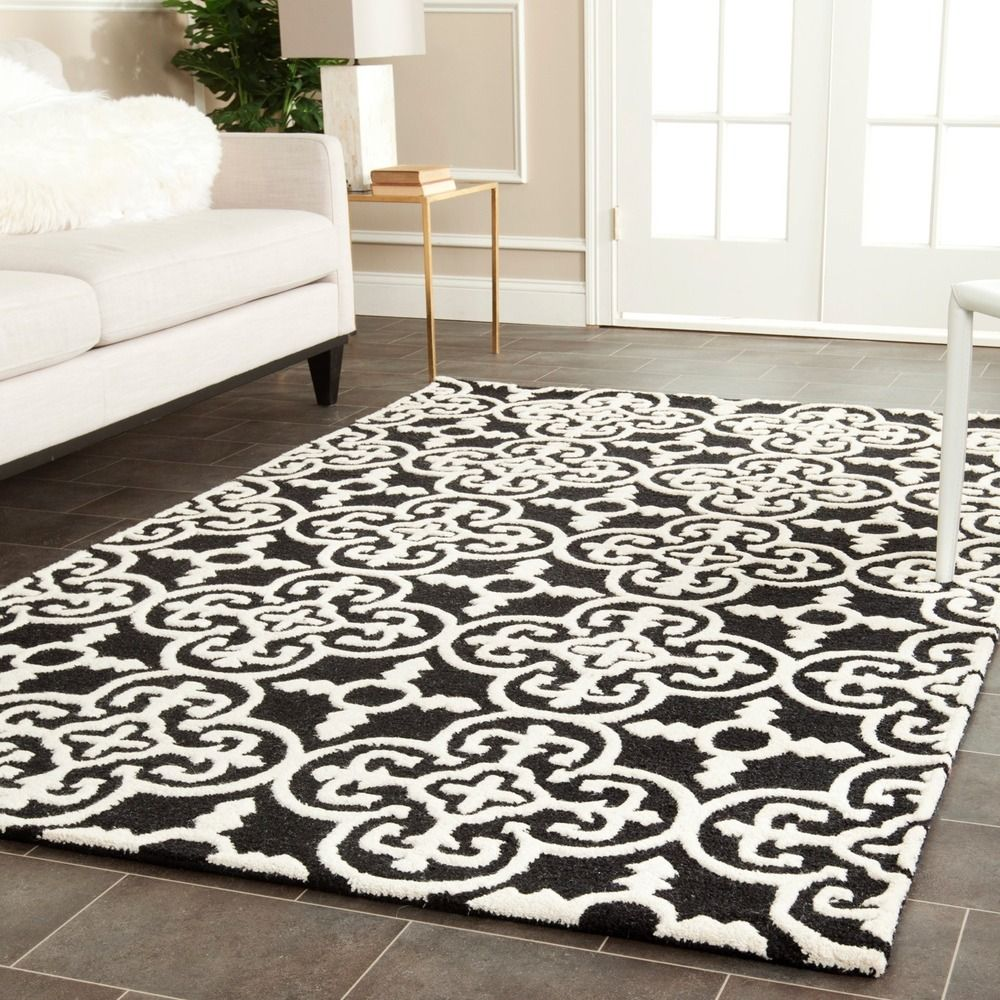 Safavieh Handmade Cambridge Moroccan Black Wool Rug With Canvas Backing 6 X 9 Overstock Shopping Great D Modern Wool Rugs Wool Area Rugs Colorful Rugs