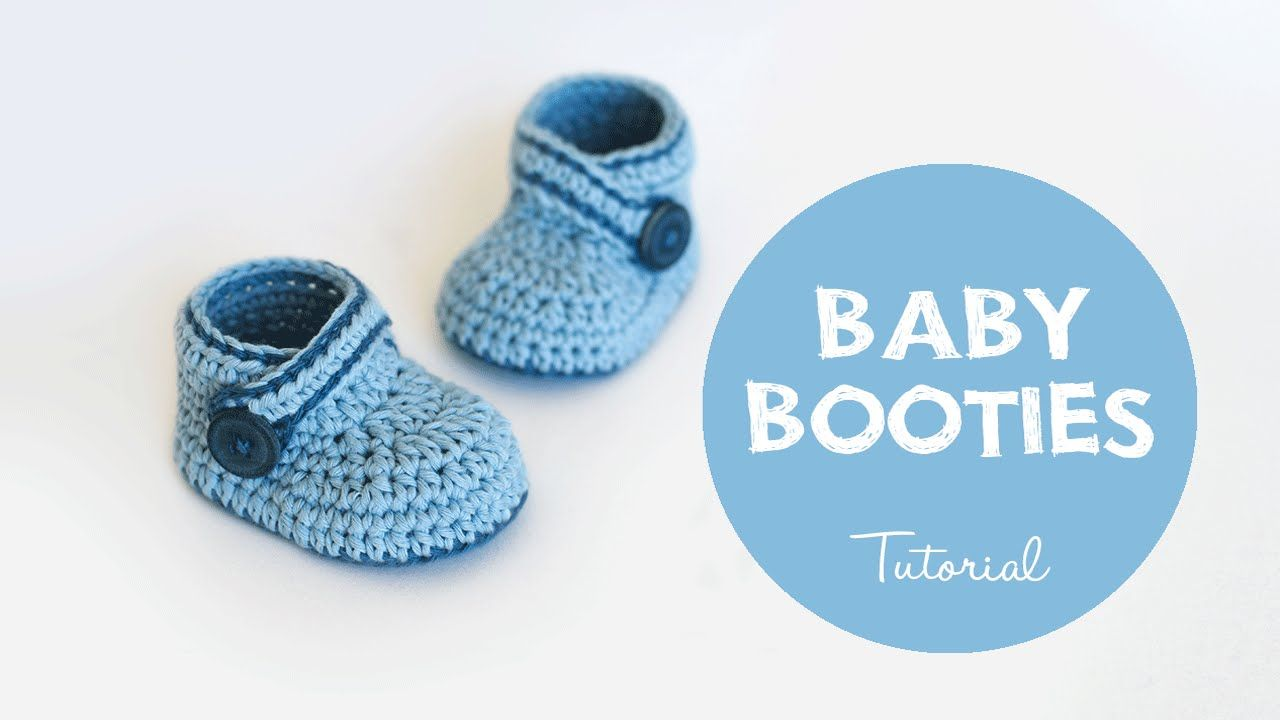 How To Crochet Cute and Easy Baby Booties | Croby Patterns | Booties ...