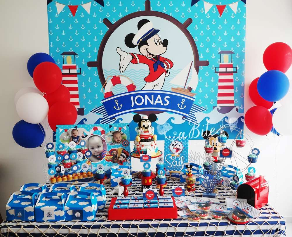Mickey Mouse Birthday Party Ideas Photo 1 Of 7 Mickey Mouse Birthday Party Mickey First Birthday Mickey Mouse Clubhouse Birthday Party