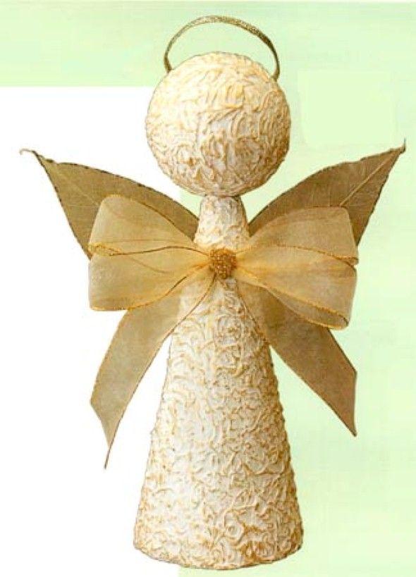 Artesanato Com Cones De Papelao 008 Fazer Enfeites De Natal