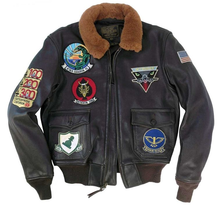 Cockpit Mens A-6 Intruder Vintage G-1 Flight Jacket | stuff i want ...