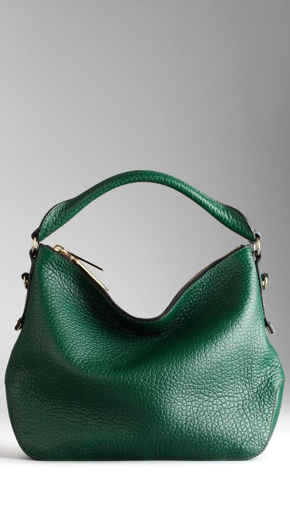 Small Heritage Grain Leather Hobo Bag Burberry In 2020 Trending Handbag Vegan Purse Handbags Bags