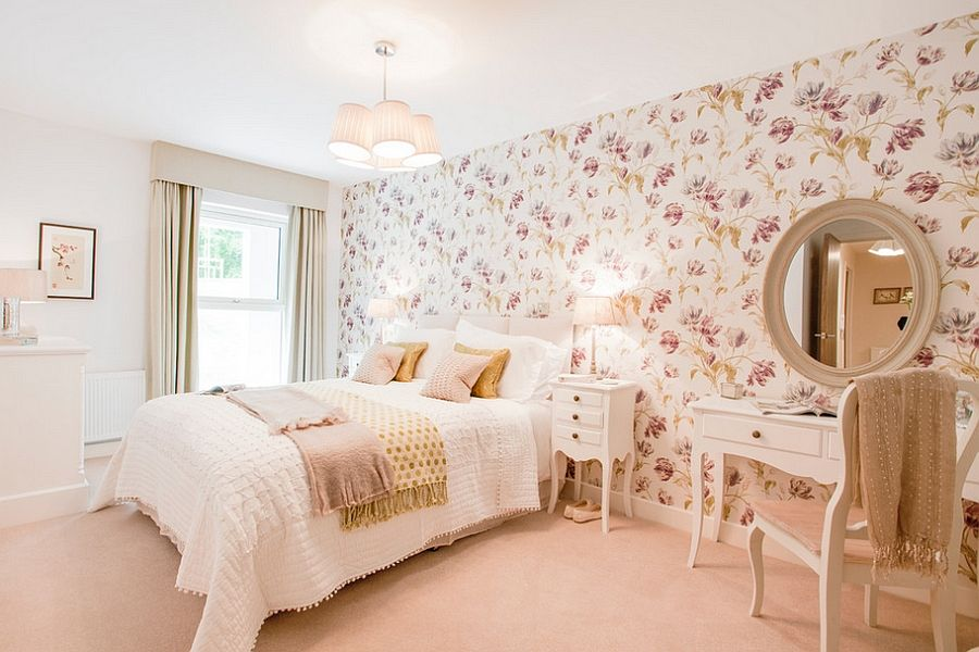 Floral Wallpaper Bedroom Ideas Home Decorating Ideas House Designer