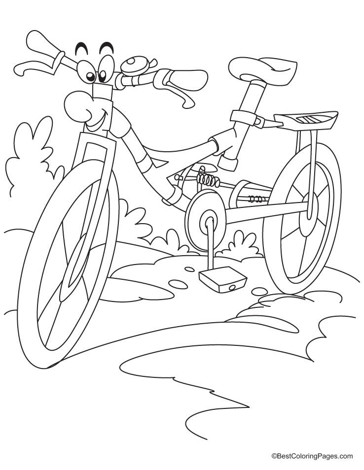 Cartoon Bike Coloring Page With Images Pattern Coloring Pages