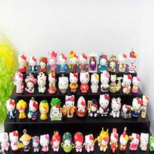 Free Shipping Hello Kitty Action Toy Figures Pvc Dolls Collection Kids Toys Model Girls Christmas Birthday Gifts 50Pcs/Sets(China (Mainland))